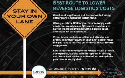 Let DRS Show you the Best Route to Lower Reverse Logistics Cost