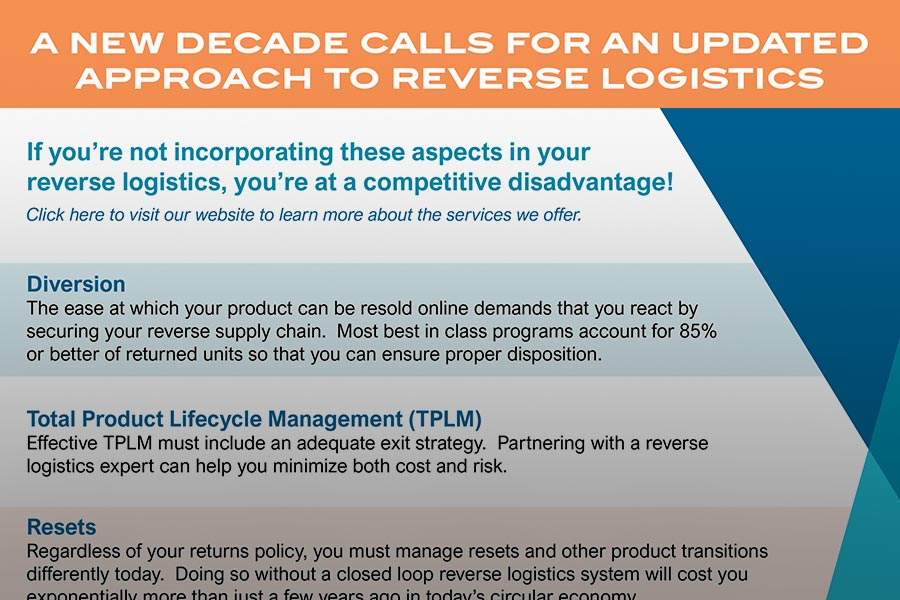 A New Decade Calls for an Updated Approach to Reverse Logistics