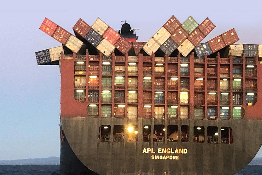 Cargo Ship Losing Products